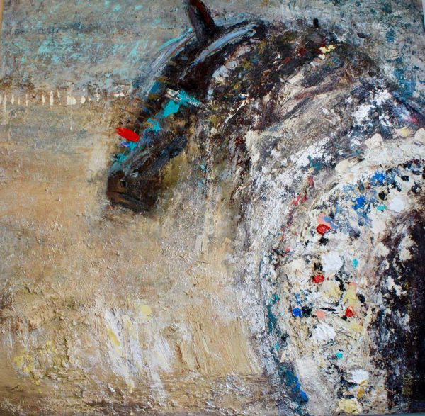 "Brave Horse 48"" x 48"" by Kira Fercho"